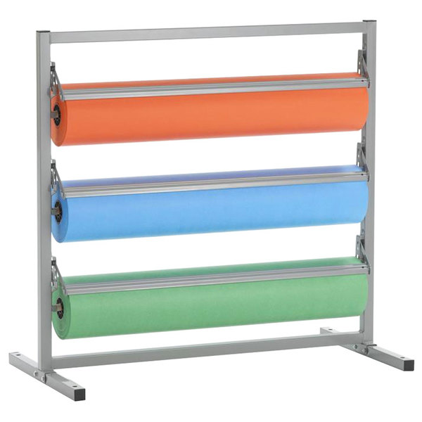 """Bulman T343R-30 30"""" Three Deck Tower Paper Rack with Serrated Blade"""