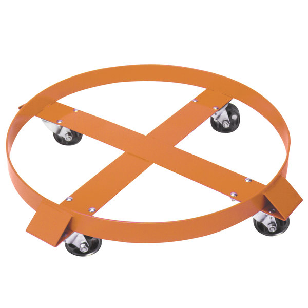 "Wesco Industrial Products 240033 24"" Steel Dolly with 3"" Rubber Casters for 55 Gallon Steel Drums Main Image 1"