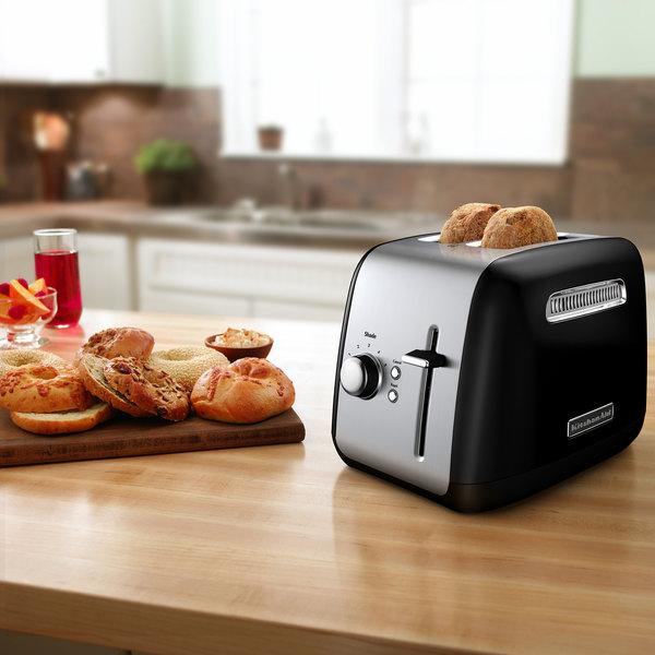 KitchenAid KMT2115OB Onyx Black 2 Slice Toaster With Manual Lift Main Image 3