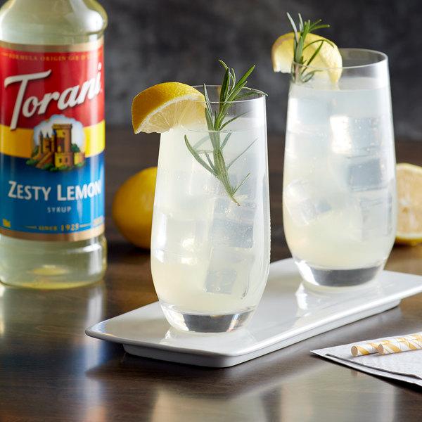 Torani 750 mL Zesty Lemon Flavoring Syrup Main Image 2