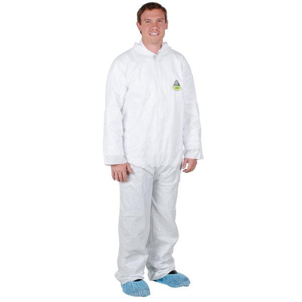 White Disposable Microporous Coveralls - 5XL Main Image 1