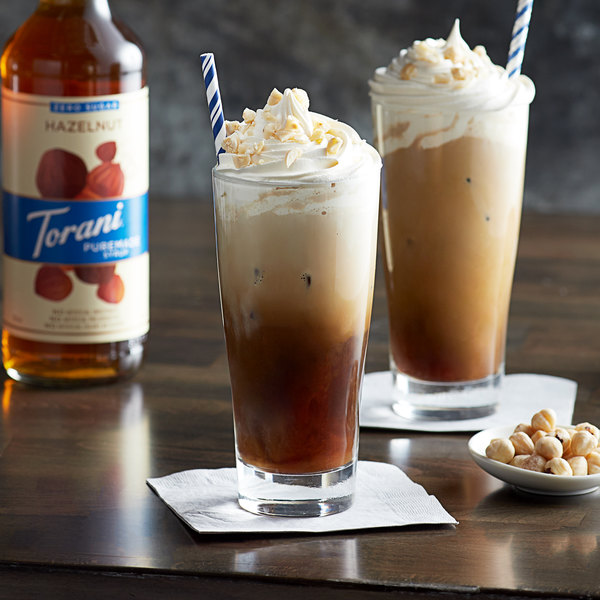 Torani 750 mL Puremade Zero Sugar Hazelnut Flavoring Syrup Main Image 2