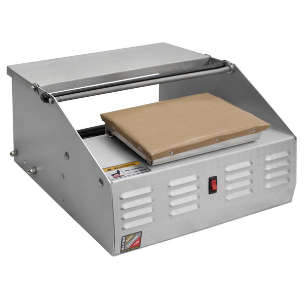"Heat Seal 500A MINI Compact Single 12"" Roll Film Roller Mounted Countertop Wrapping Machine - 725W, 115V Main Image 1"
