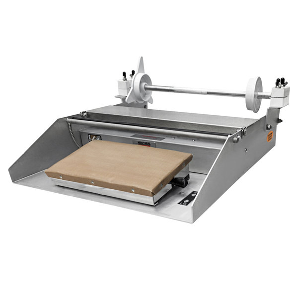 """Heat Seal 625A MINI Compact Single 12"""" Roll Film Axle Mounted Countertop Wrapping Machine - 748W, 115V Main Image 1"""