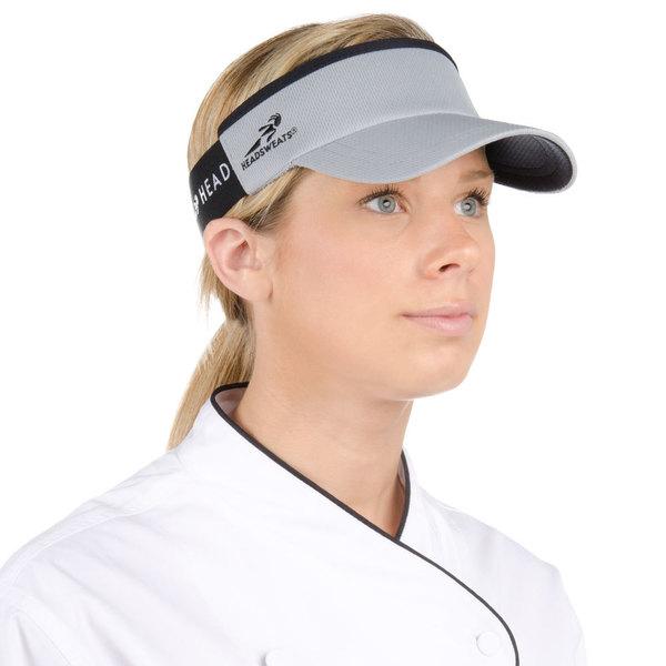 Headsweats Gray Customizable CoolMax Chef Visor Main Image 1