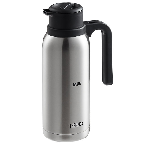 """Thermos TGB10SCML6 32 oz. """"Milk"""" Stainless Steel Vacuum Insulated Carafe"""