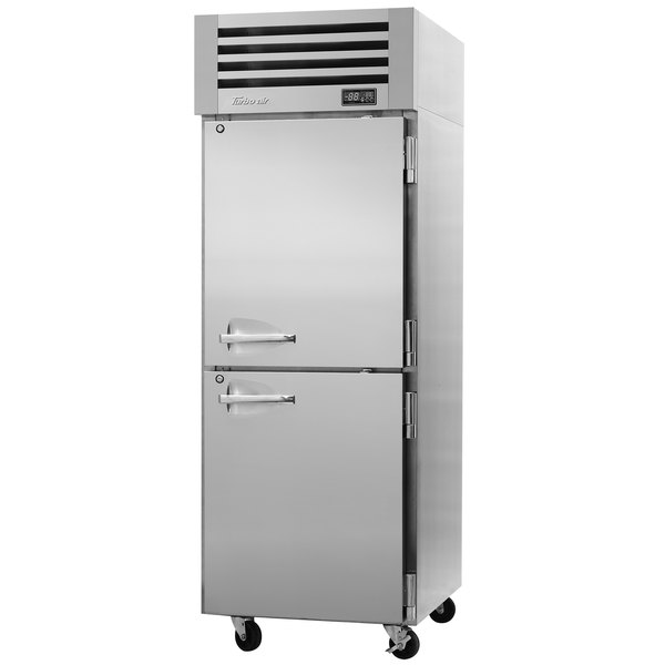 "Turbo Air PRO-26-2R-N 29"" Premiere Pro Series Solid Half Door Reach in Refrigerator Main Image 1"