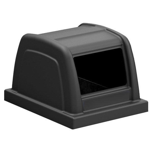 Commercial Zone 727401 ArchTec Parkview 25 Gallon Black Trash Can Lid with Decal