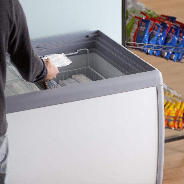 "Avantco DFF9-HCL 39"" Flat Top Display Ice Cream Freezer Main Image 6"