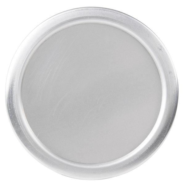 "American Metalcraft 7008 9 1/2"" x 1/4"" Round Standard Weight Aluminum Pizza Pan Separator/Lid"