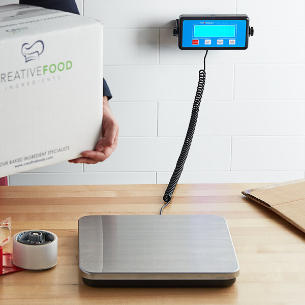 Avaweigh RS220LP 220 lb. Low-Profile Digital Receiving Scale with Remote Display Main Image 5