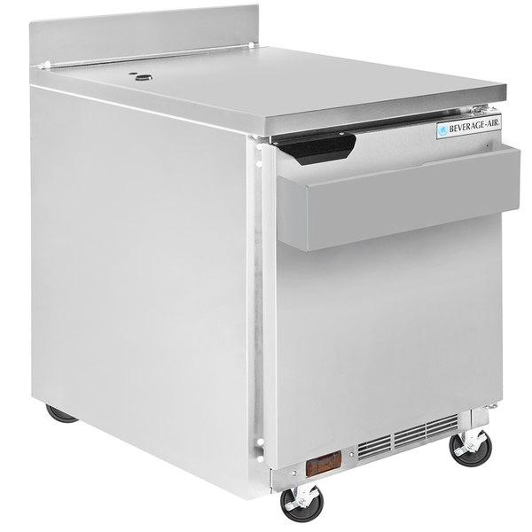 "Beverage-Air WTR27AHC-SR 27"" Worktop Refrigerator with Speed Rail Main Image 1"
