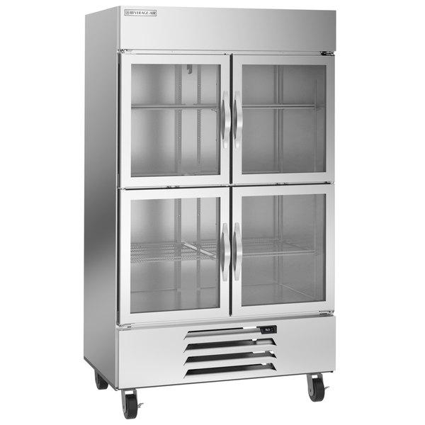 "Beverage-Air HBF44HC-1-HG 47"" Horizon Glass Half Door Bottom Mounted Reach-In Freezer Main Image 1"