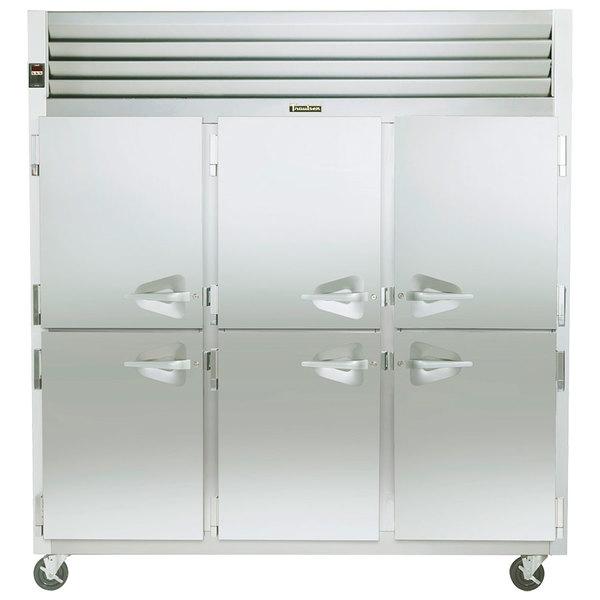 Traulsen G31301 3 Section Half Door Reach In Freezer - Left / Left / Right Hinged Doors Main Image 1