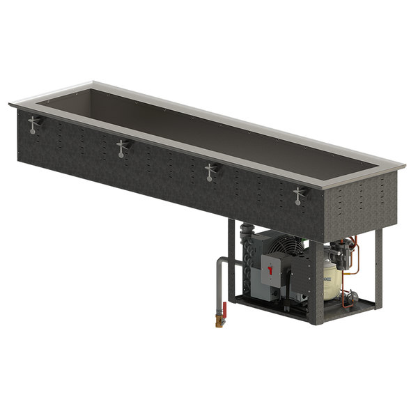 Vollrath FC-4CS-02120-R Standard Short Side Two Pan Drop-In Refrigerated Cold Food Well - 120V