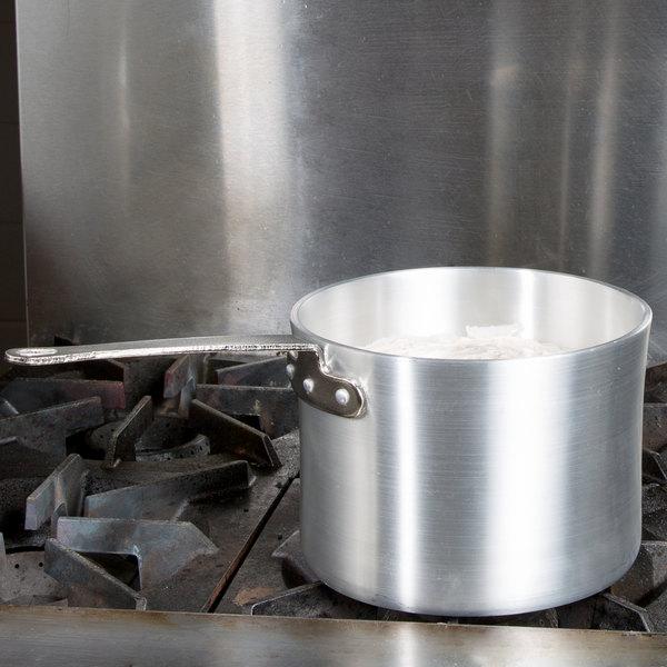 6 Qt. Heavy-Duty Aluminum Straight Sided Sauce Pan