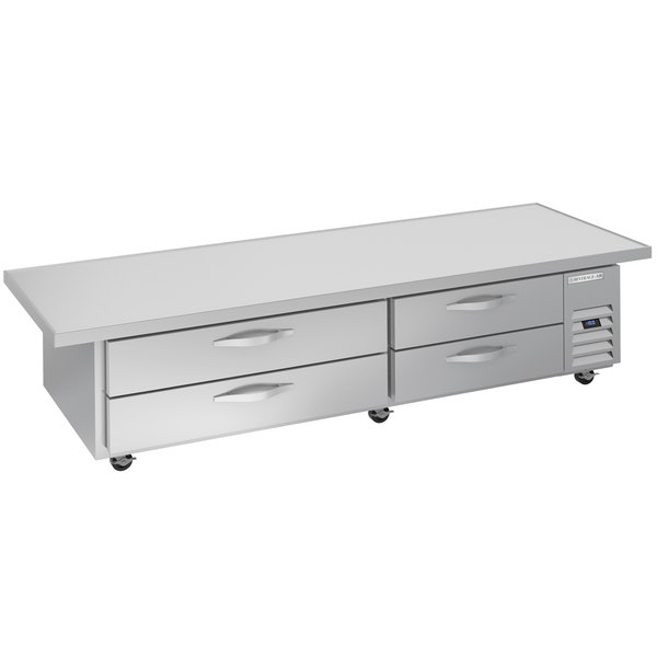 "Beverage-Air WTFCS84HC-108 4 Drawer 108"" Freezer Chef Base with 24"" Overhang Main Image 1"