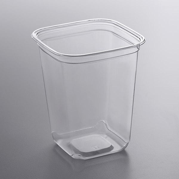 Fabri-Kal SQ32 TruWare 32 oz. Square Recycled PET Deli Container - 600/Case