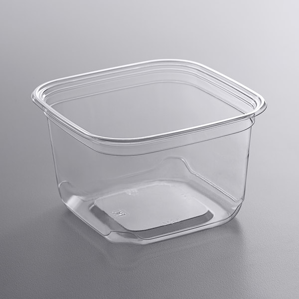 Fabri-Kal SQ16 TruWare 16 oz. Square Recycled PET Deli Container - 600/Case