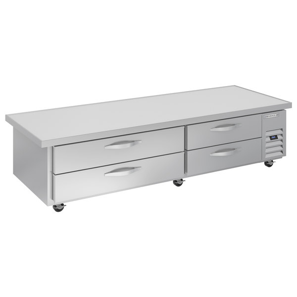 """Beverage-Air WTRCS84HC-108 108"""" 4 Drawer Refrigerated Chef Base with 24"""" Overhang Main Image 1"""