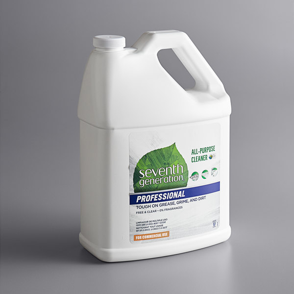 Seventh Generation 44720 Professional Free & Clear 1 Gallon All Purpose Cleaner - 2/Case Main Image 1