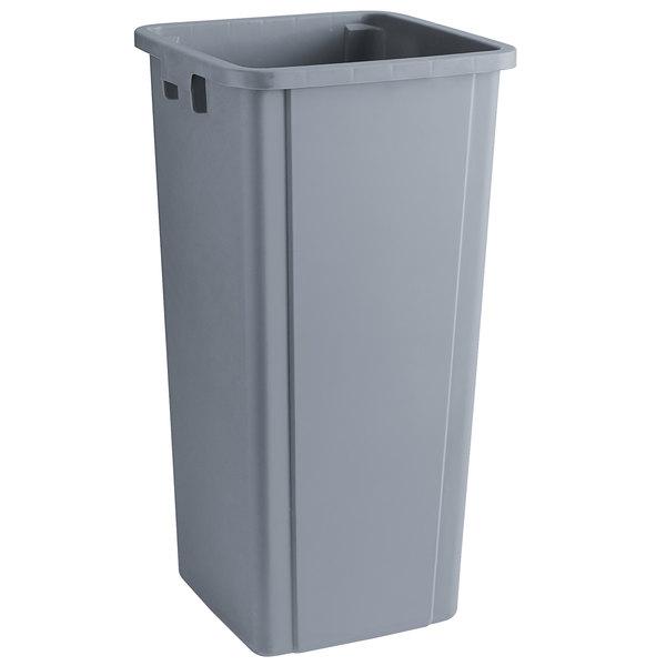 25GY Grey 25 Gallon Square Trash Can Continental Mfg