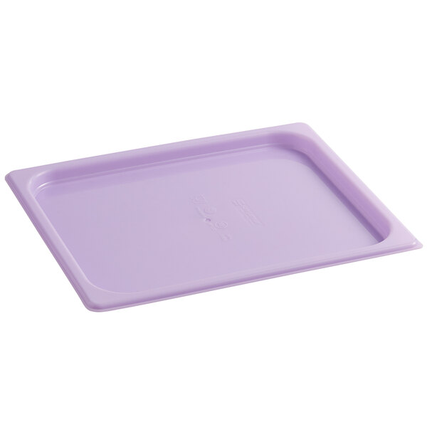 San Jamar MPL12PR ModPan 1/2 Size Purple Allergen Food Pan Lid Main Image 1