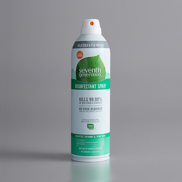 Seventh Generation 22981 13.9 oz. Eucalyptus, Spearmint, and Thyme Disinfectant Spray - 8/Case Main Image 1