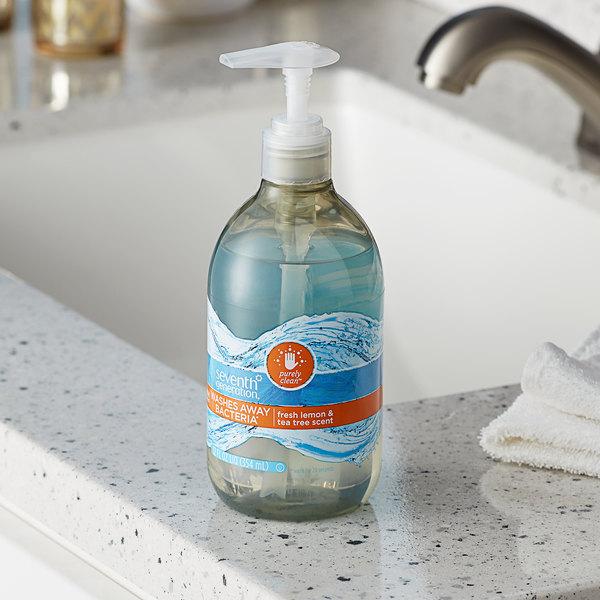 Seventh Generation 22924 Purely Clean 12 oz. Lemon & Tea Tree Hand Soap - 8/Case Main Image 2