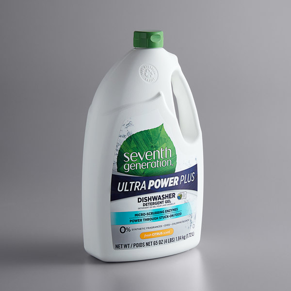 Seventh Generation 22929 65 oz. Ultra Power Plus Citrus Dishwasher Detergent Gel - 6/Case Main Image 1