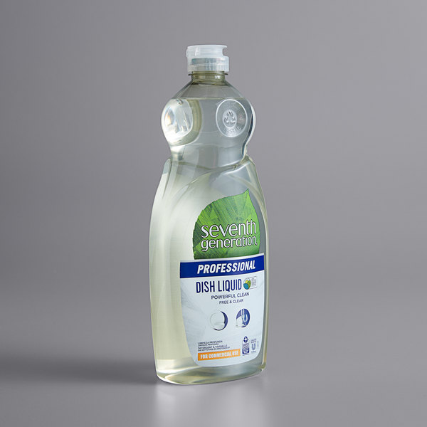 Seventh Generation 44718 Professional Free & Clear 25 oz. Liquid Dish Soap - 12/Case Main Image 1