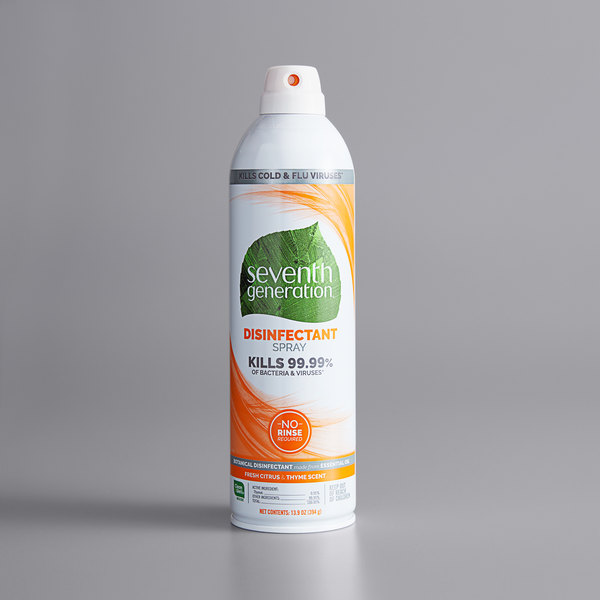Seventh Generation 22980 13.9 oz. Fresh Citrus and Thyme Disinfectant Spray - 8/Case Main Image 1