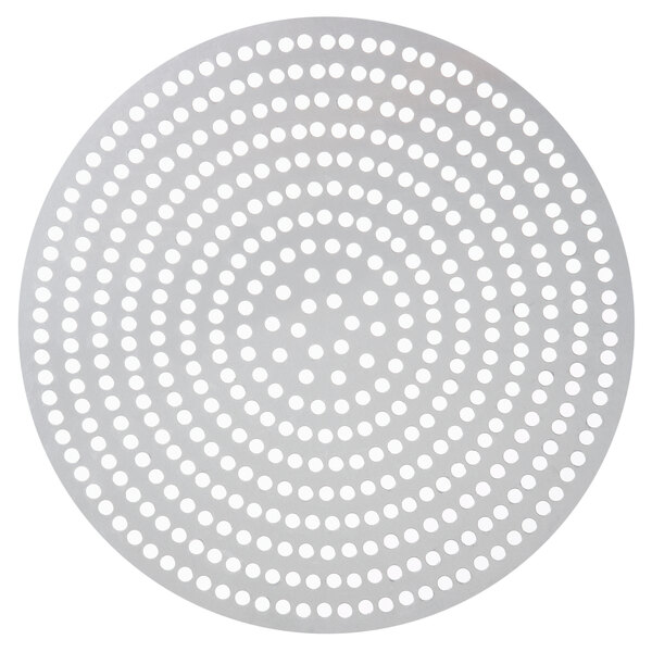 "American Metalcraft 18908SP 8"" Super Perforated Aluminum Pizza Disk Main Image 1"