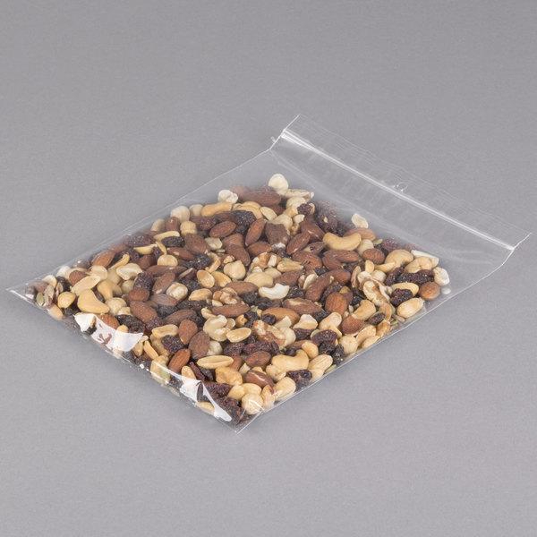 "Plastic Food Bag 8"" x 10"" Seal Top with Hang Hole - 1000/Box"