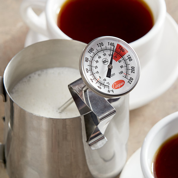 """Cooper-Atkins 2237-04-8 7"""" Hot Beverage and Frothing Thermometer, 0-220 Degrees Fahrenheit Main Image 4"""