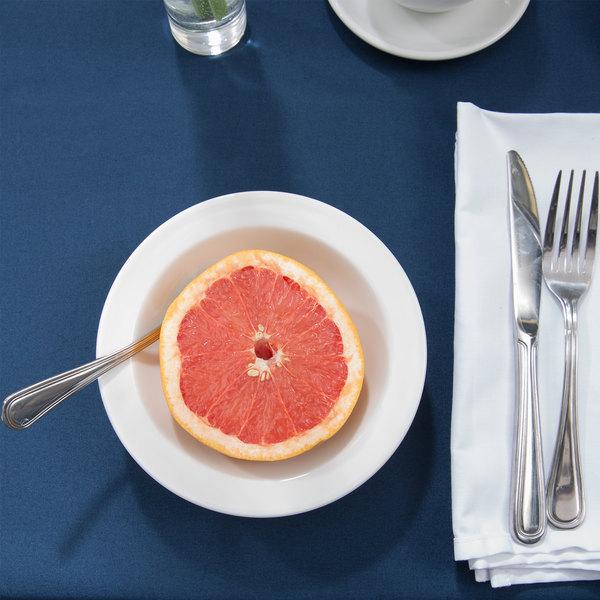 Tuxton ALD-063 Alaska 10 oz. Bright White China Grapefruit Bowl - 36/Case
