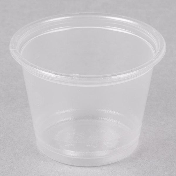 Dart Conex Complements 100PC 1 oz. Translucent Plastic Souffle / Portion Cup - 2500/Case