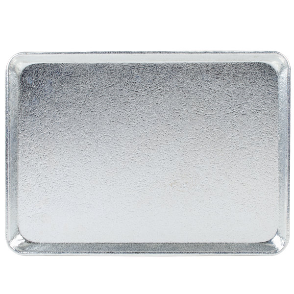 "Chicago Metallic 40917 Silver Full Size Customizable Bakery Display Tray - 18"" x 26"""