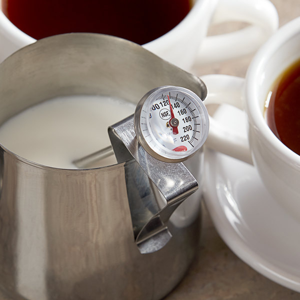 """Cooper-Atkins 1236-70-1 5"""" Hot Beverage and Frothing Thermometer, 0-220 Degrees Fahrenheit Main Image 4"""