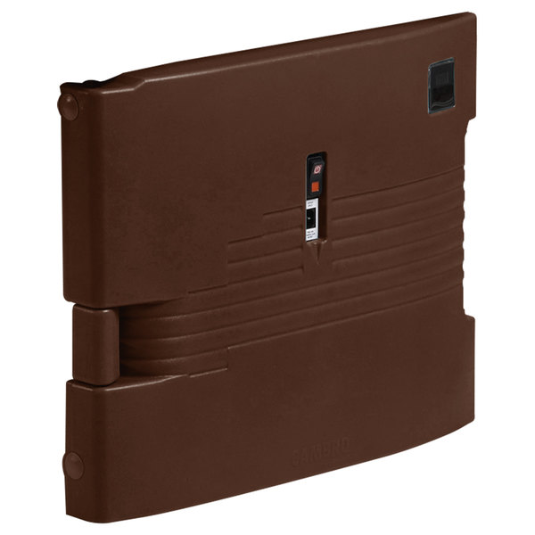 Cambro UPCHTD16002131 Dark Brown Replacement Heated Top Door for Camcarrier - 220V (International Use Only)