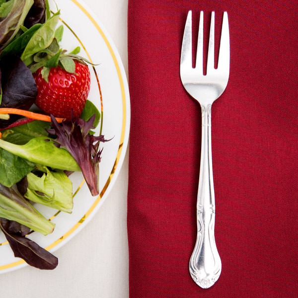 Claridge Flatware Stainless Steel Salad Fork - 12/Case