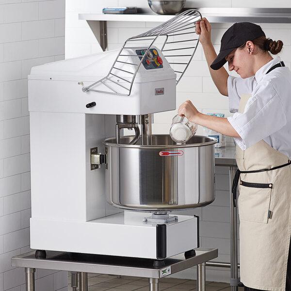 Estella SM50 50 qt. / 75 lb. Two-Speed Spiral Dough Mixer - 240V, 4 HP Main Image 5