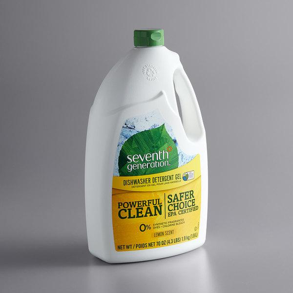 Seventh Generation 22831 70 oz. Lemon Dishwasher Detergent Gel Main Image 1