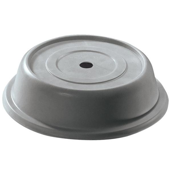 """Cambro 1014VS191 Versa 10 7/8"""" Granite Gray Camcover Round Plate Cover - 12/Case"""