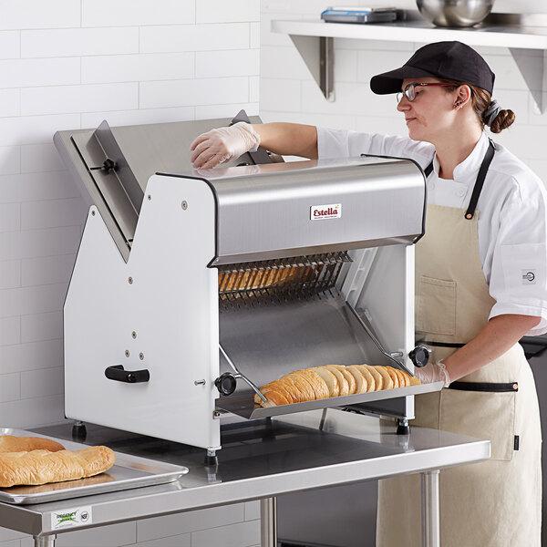 "Estella Countertop Electric Bread Slicer - 3/4"" Cutting Width - 110V, 1/4 hp Main Image 6"