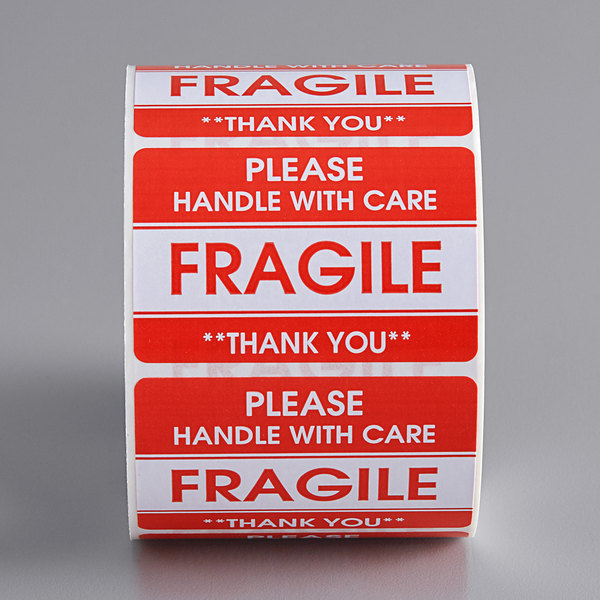500 Stickers Total 2 x 3 Please FRAGILE Handle With Care Labels