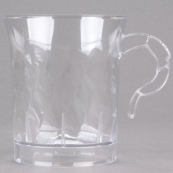WNA Comet CWM8192C Classicware 8 oz. Clear Plastic Coffee Cup - 192/Case