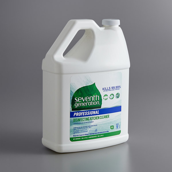 Seventh Generation 44752 Professional 1 Gallon Lemongrass Citrus Disinfecting Kitchen Cleaner - 2/Case Main Image 1