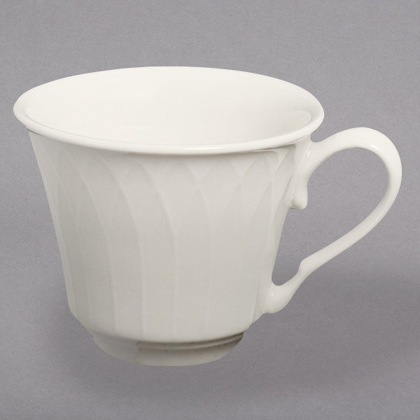 Homer Laughlin by Steelite International HL3317000 Gothic 7.5 oz. Ivory (American White) China Cup - 36/Case Main Image 1
