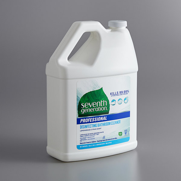 Seventh Generation 44755 Professional 1 Gallon Lemongrass Citrus Disinfecting Bathroom Cleaner - 2/Case Main Image 1